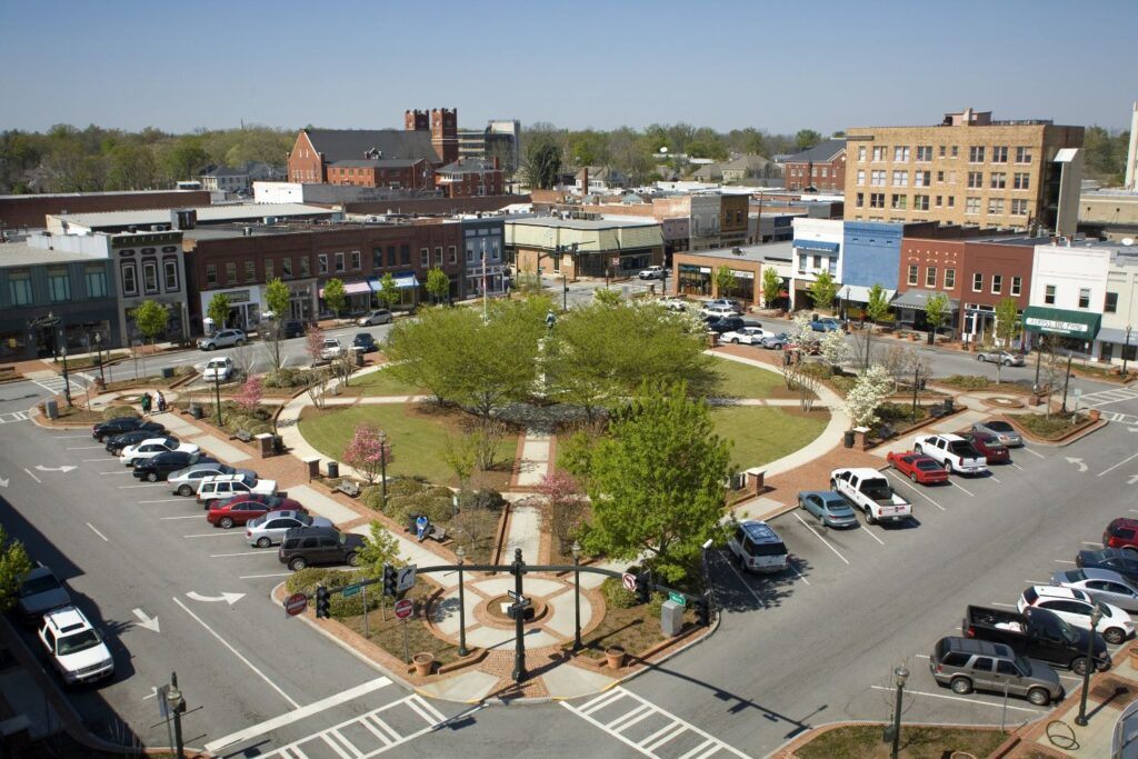 Gainesville's town square.