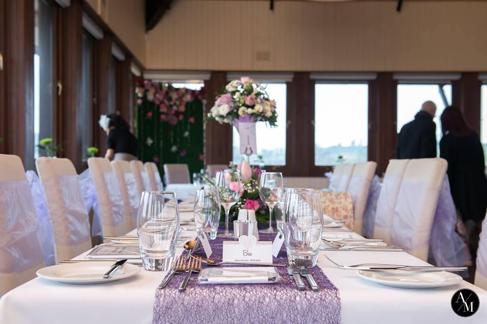 Réception mise en place au Denbies Wine Estate.