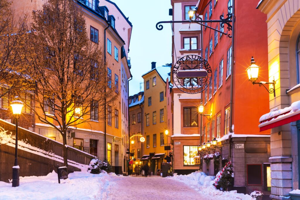 Gamla Stan during the winter time.