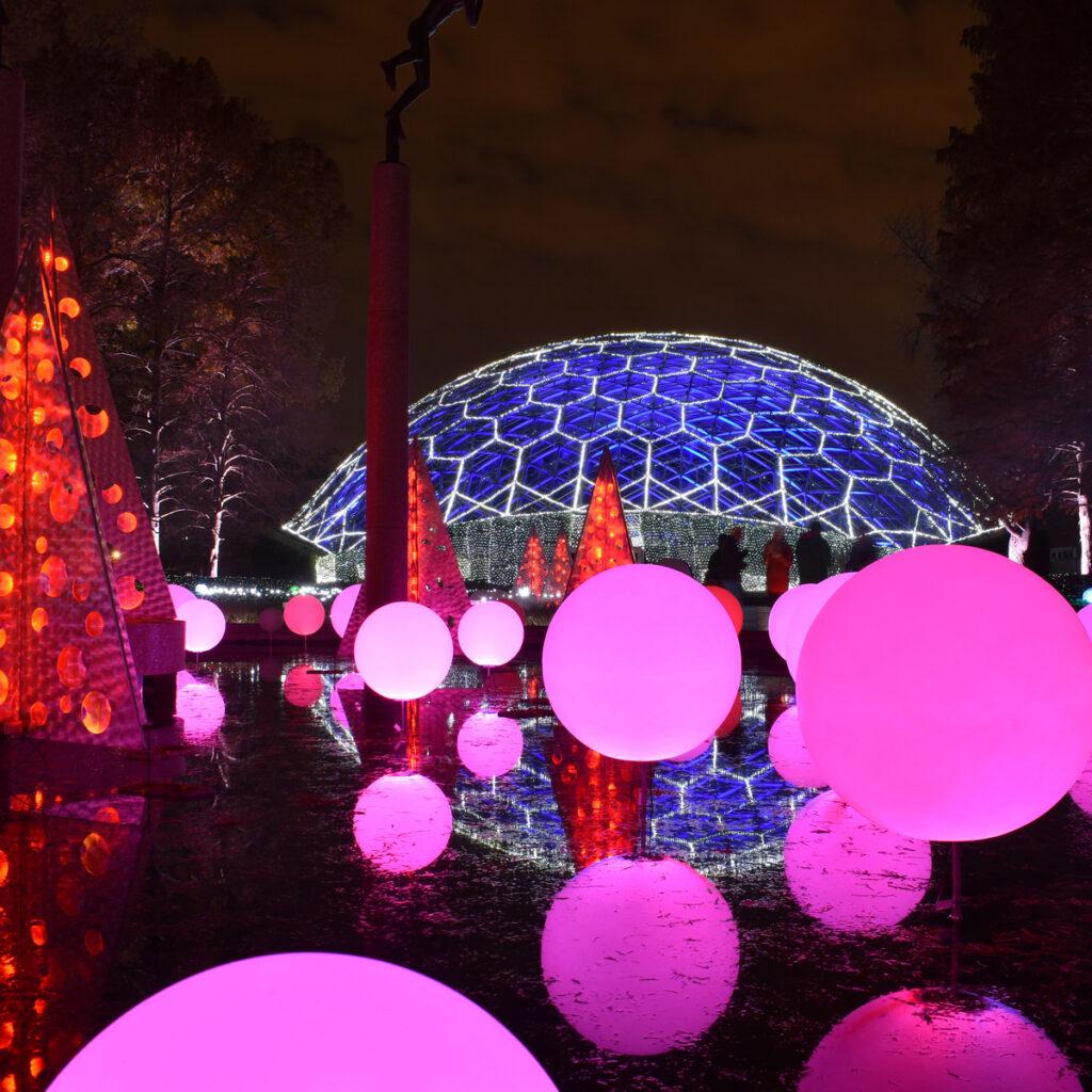Garden Glow at the Missouri Botanical Garden in St. Louis.