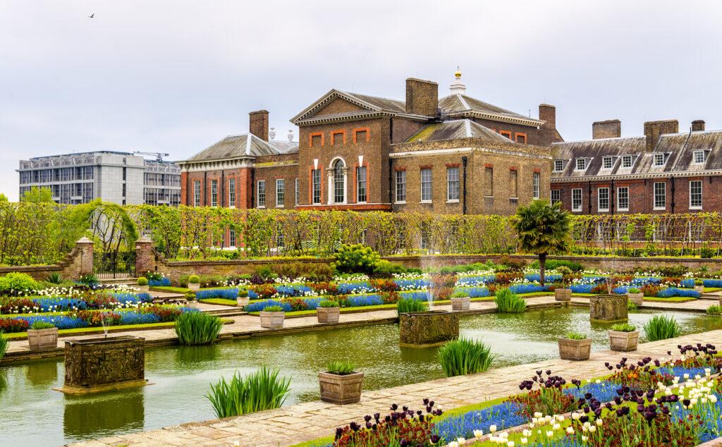 Gardens at Kensington Palace in London.