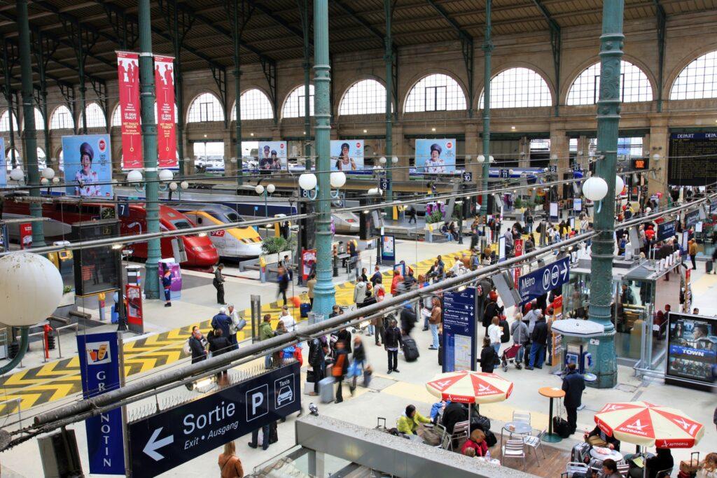 Gare du Nord station in Paris.