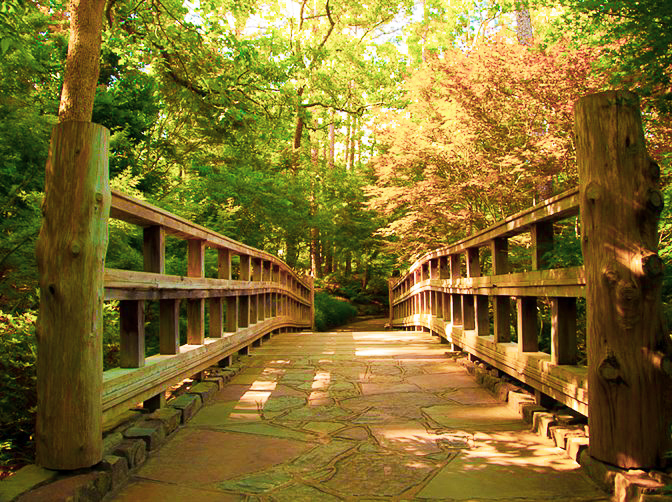 Garvan Woodland Gardens in Hot Springs, Arkansas.