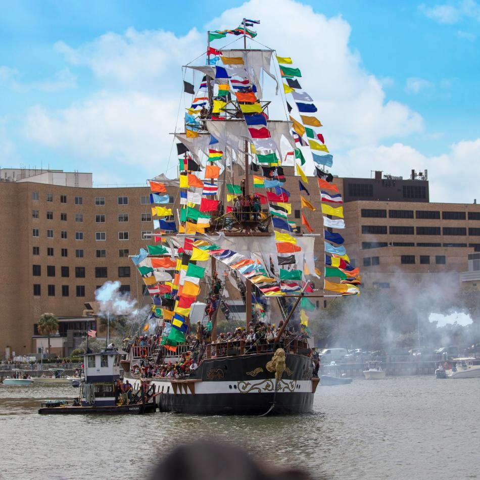 Gasparilla pirate ship, Tampa, FL.