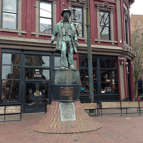 Gassy Jack Statue in Vancouver's Gastown