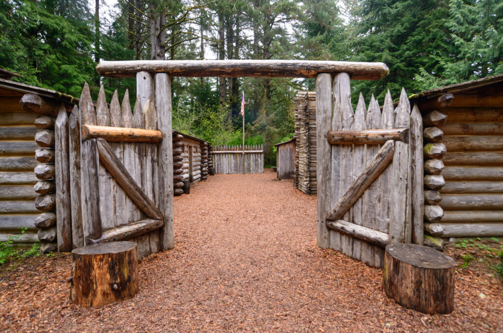 Gates to Lewis and Clark National Historic Park.