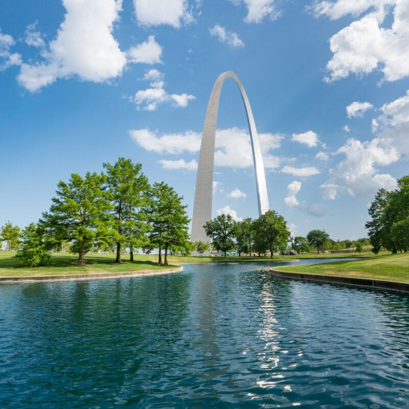 Gateway Arch in St. louis, Missouri.