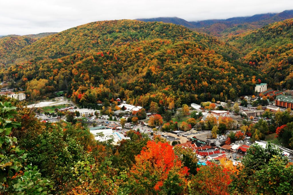 Gatlinburg, Tennessee, during the fall.