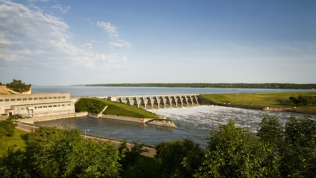 Gavins Point Dam at Lewis and Clark Lake in South Dakota.