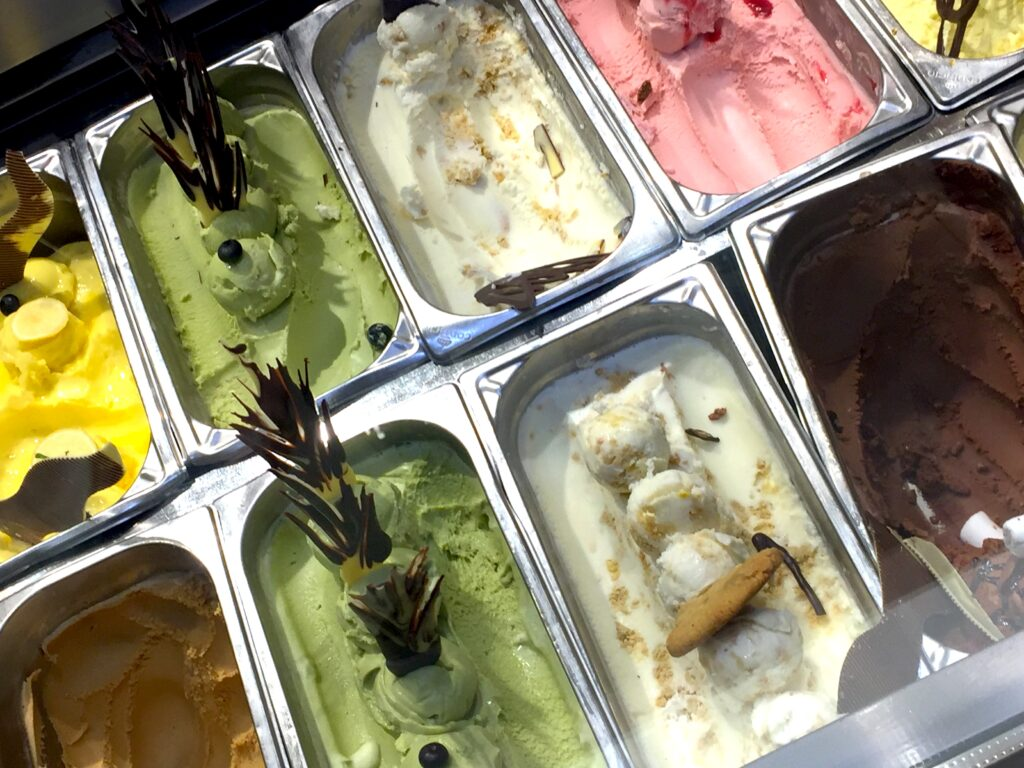 Gelato on one of the Viking Cruise Ship's buffets