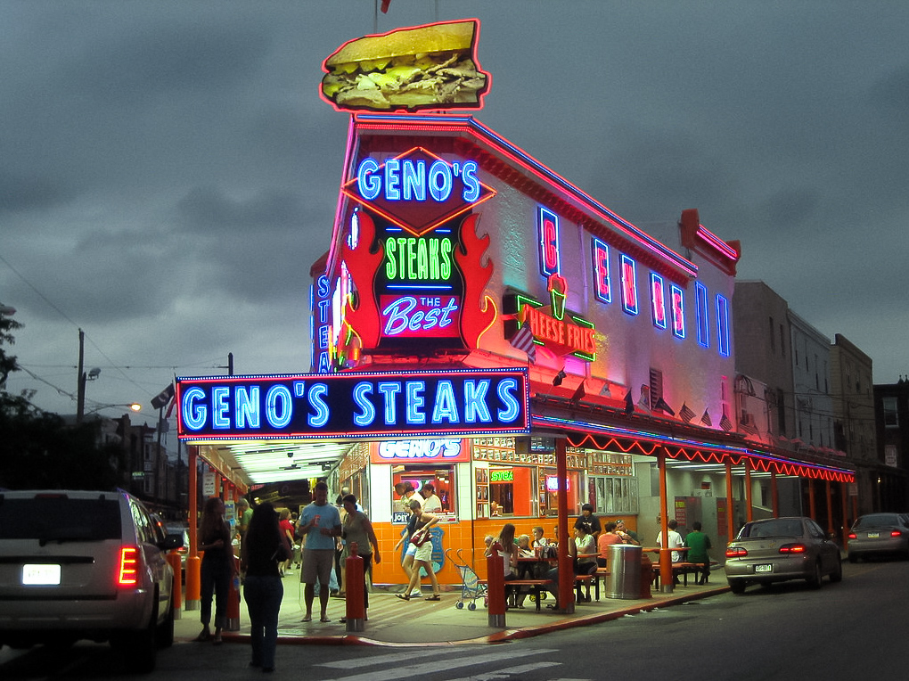 Geno's Steaks in Philadelphia.