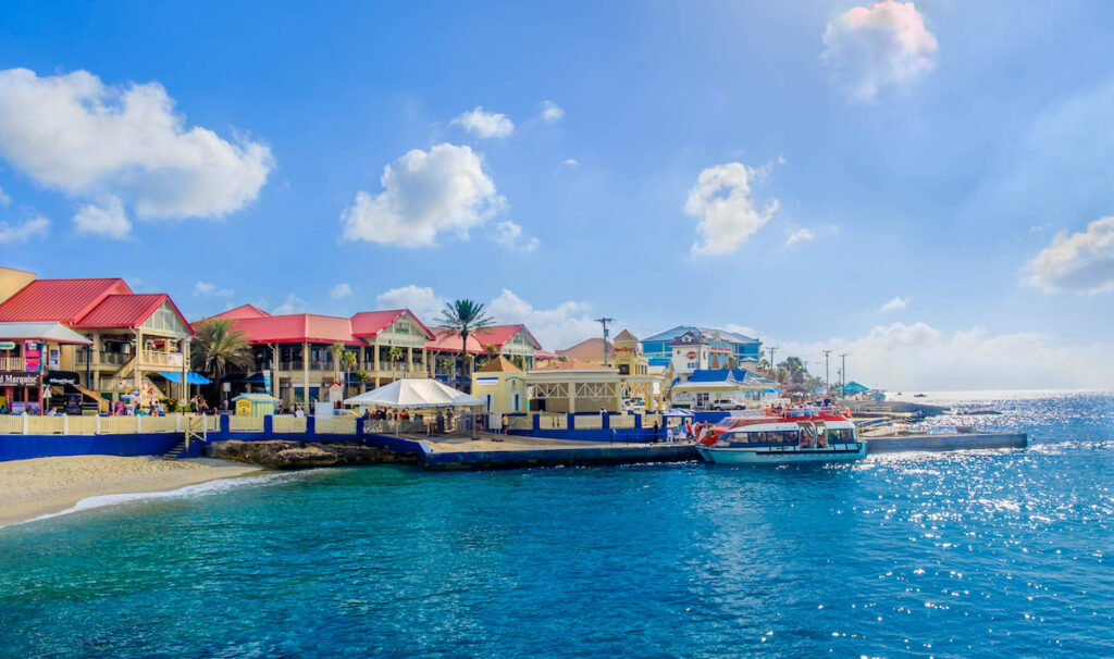 George Town, the capital of the Caymans.