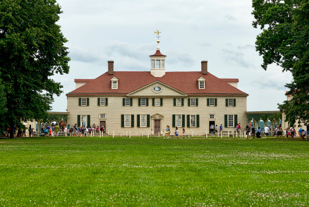 George Washington's Mount Vernon home in Alexandria.