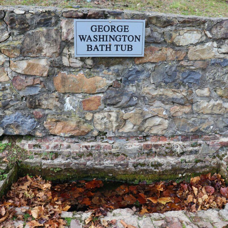George Washington's bath tub, Berkeley Springs, West Virginia.