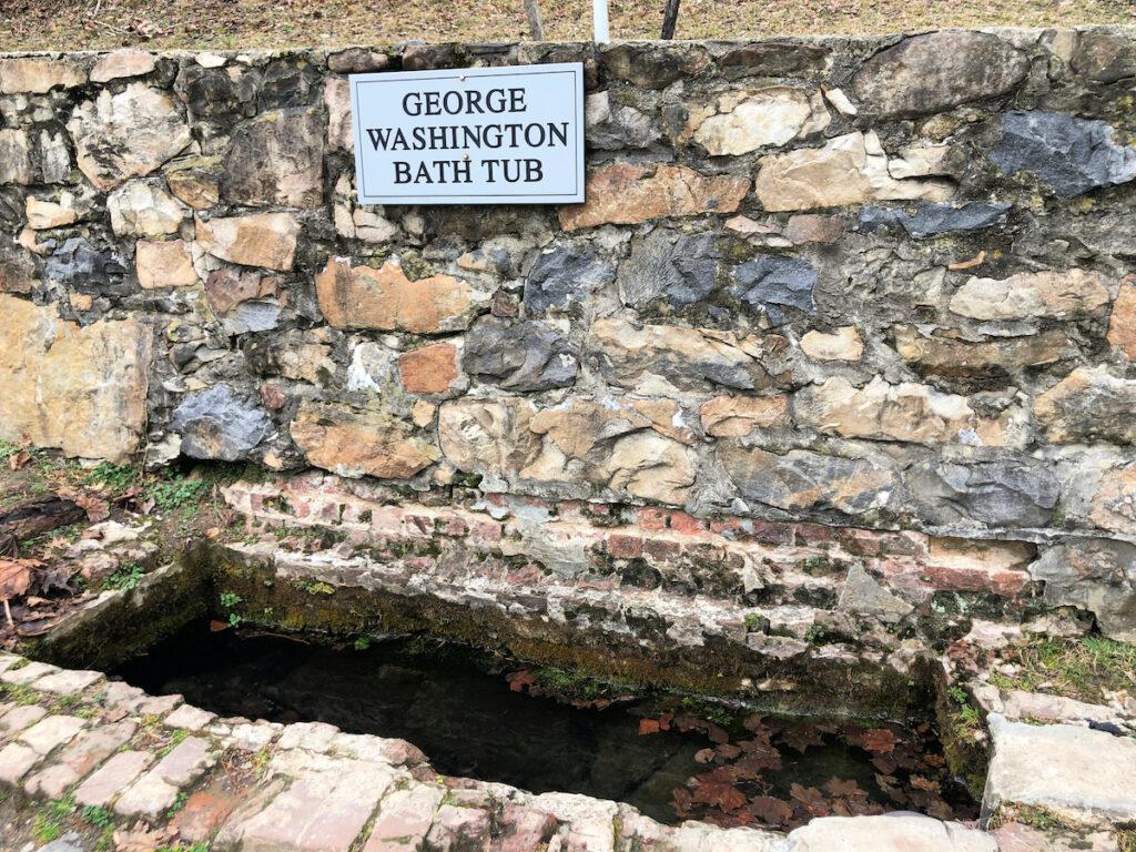 George Washington's Bath Tub, West Virginia.
