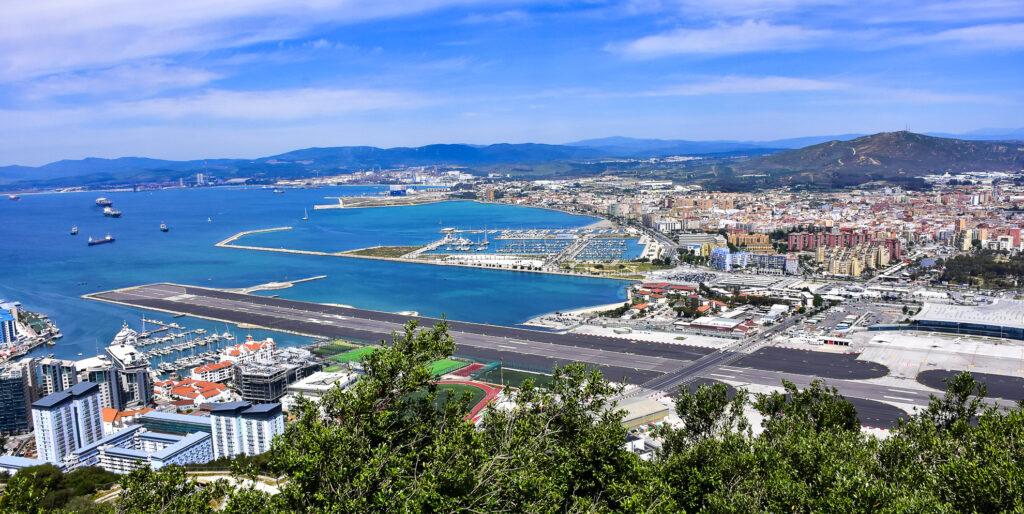 Gibraltar International Airport in Gibraltar.