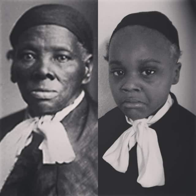 Girl as Harriet Tubman.
