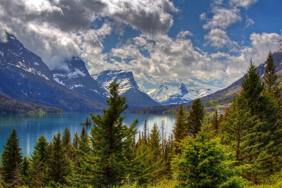 Glacier National Park and Preserve in Montana.