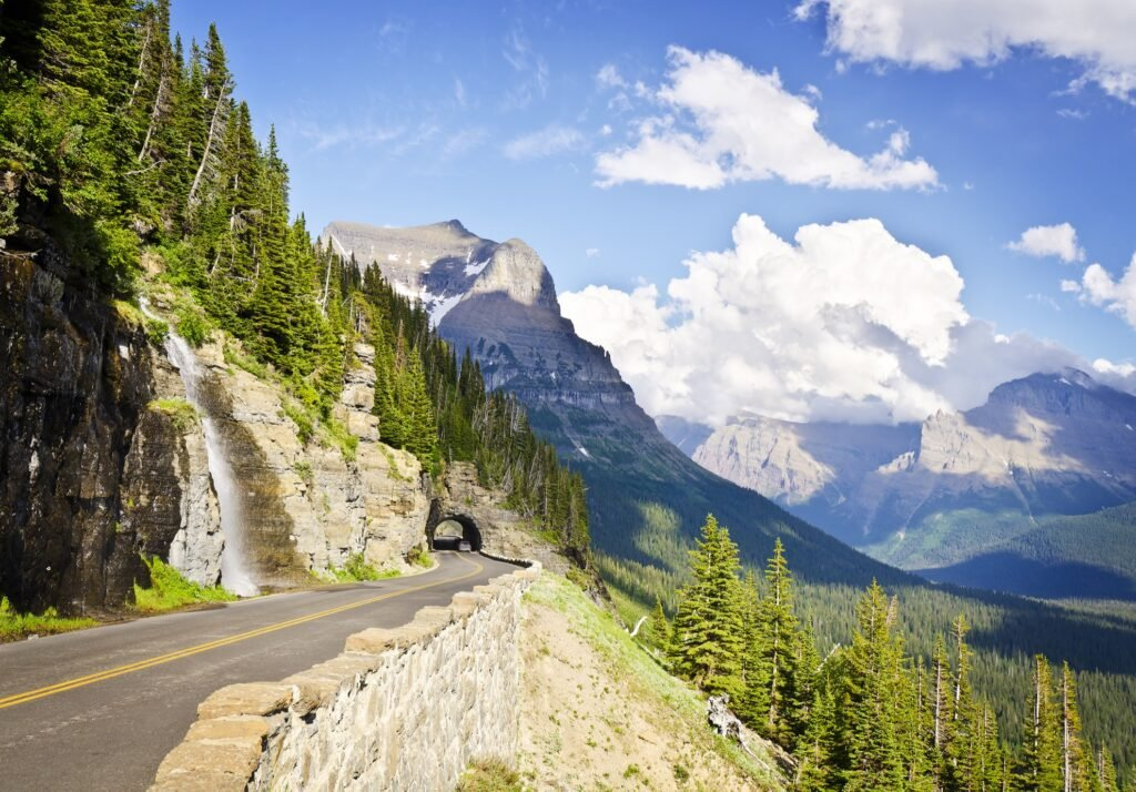 Glacier National Park's Going-To-The-Sun Road.