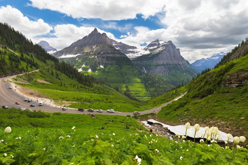 Glacier Park's Going-To-The-Sun Road.