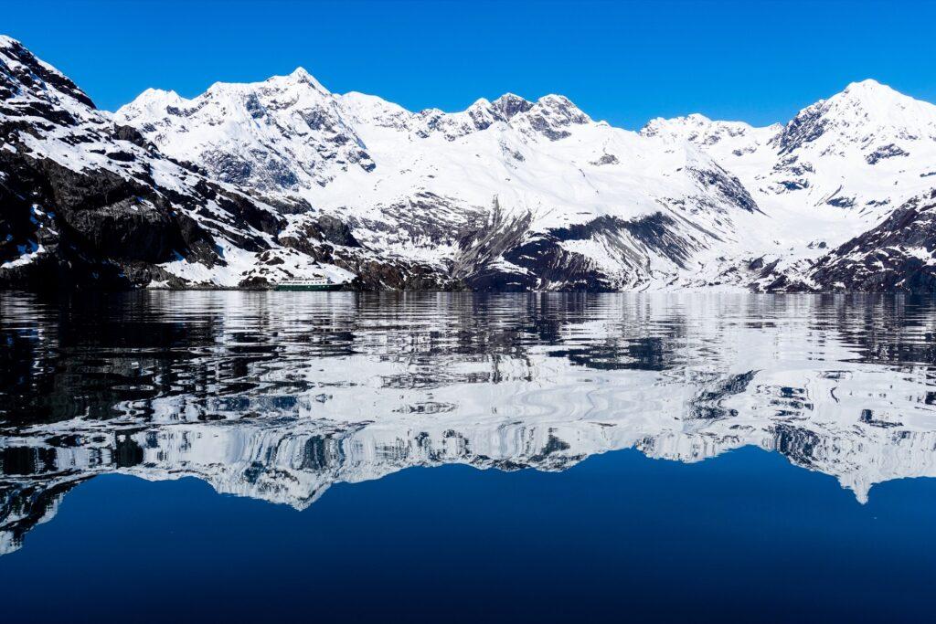 Glaciers at Glacier Bay in Alaska.