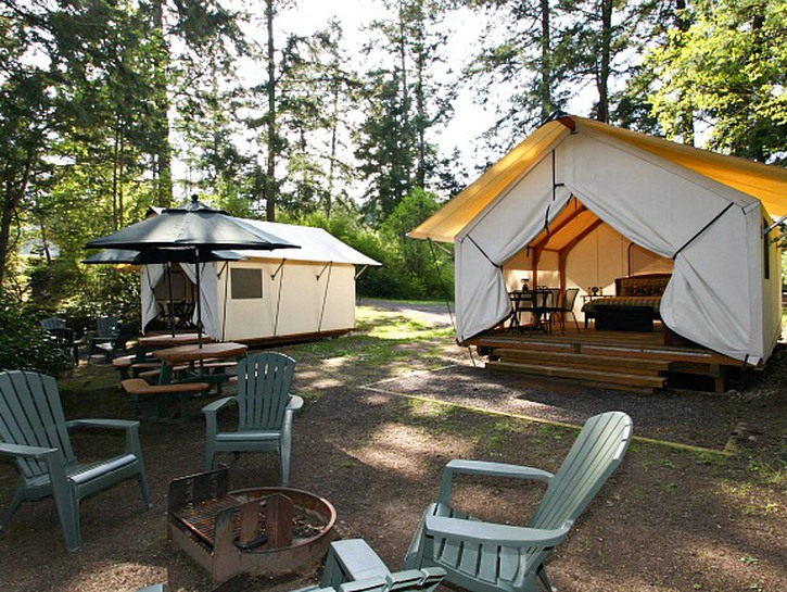 glamping is a great way to add luxury on a road trip