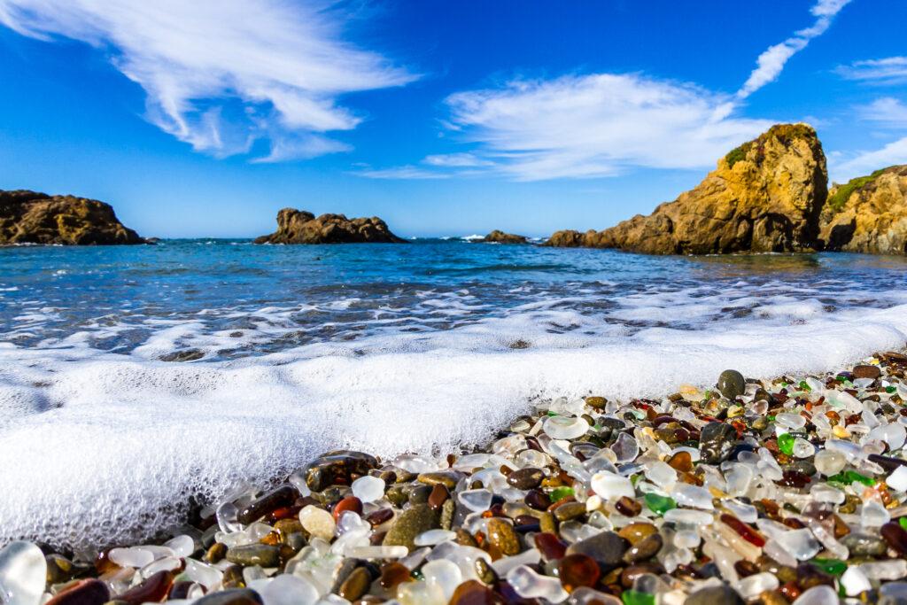 Glass Beach in California.