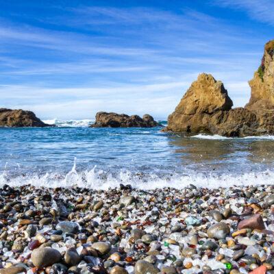 Glass Beach in Fort Bragg, California.