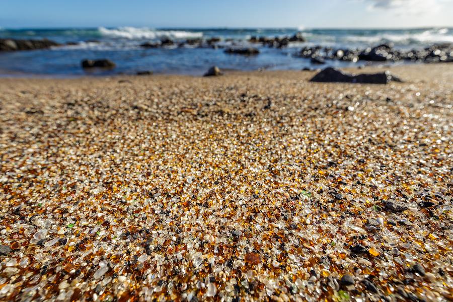 Glass Beach in Kauai, Hawaii.