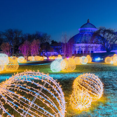 Glow at the New York Botanical Garden during the holidays.
