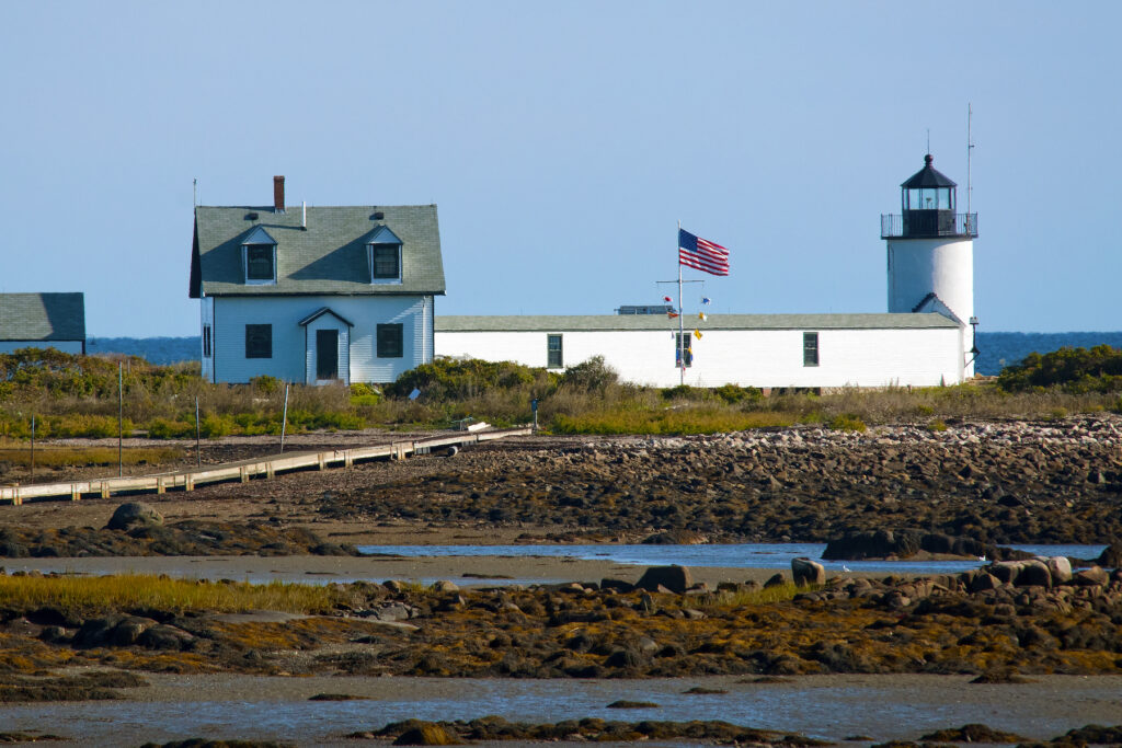 Goat Island Lighthouse in Kennebunkport, Maine.