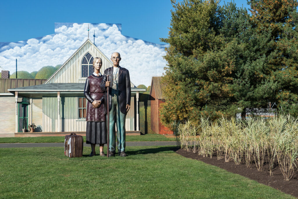 God Bless America by Seward Johnson at Grounds For Sculpture.