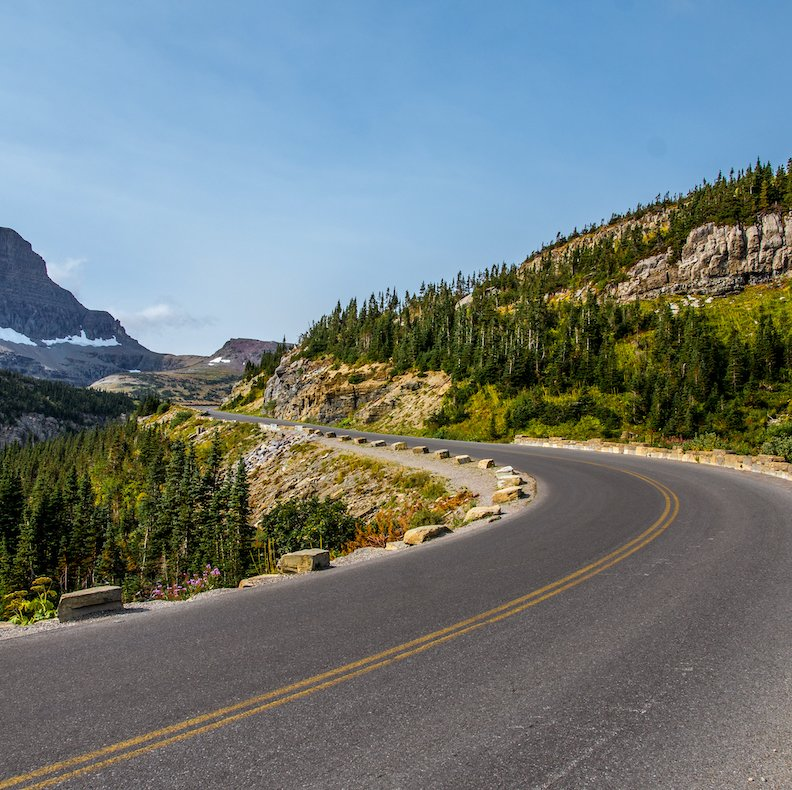 Going-to-the-Sun Road in Glacier.