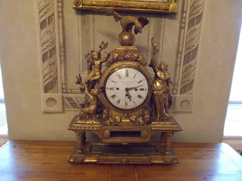 Gold antique clock