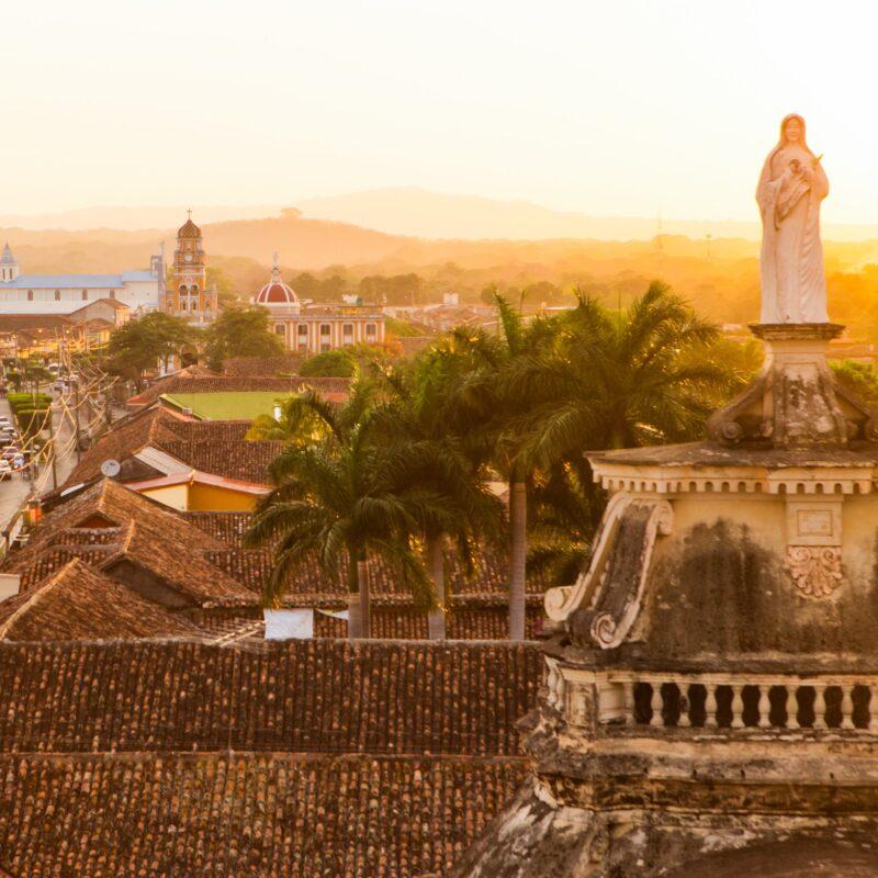 Golden hour in Granada, Nicaragua.