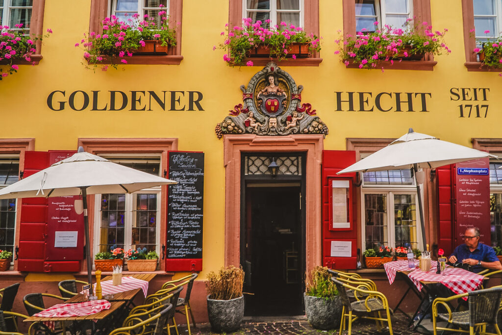 Goldener Hecht in Heidelberg, Germany.
