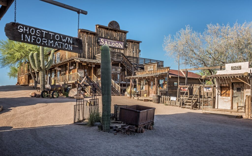 Goldfield ghost town in Arizona.