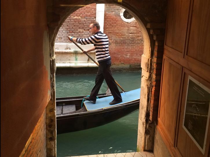 Gondolier in Venice.