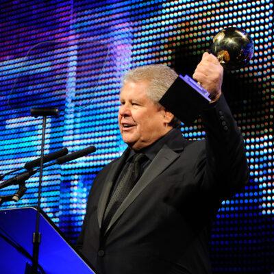 "Gordon ""Butch"" Stewart receiving a Travel Weekly Globes Travel Award."