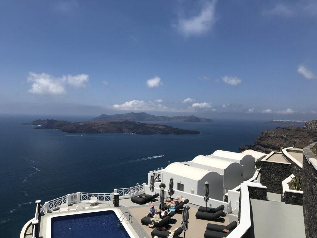 Gorgeous view of Santorini.