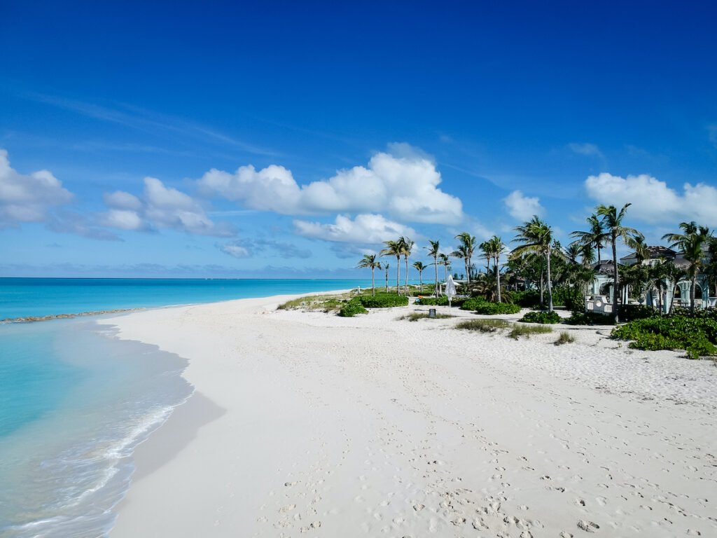 Grace Bay Beach on Providenciales Island in the Turks and Caicos.