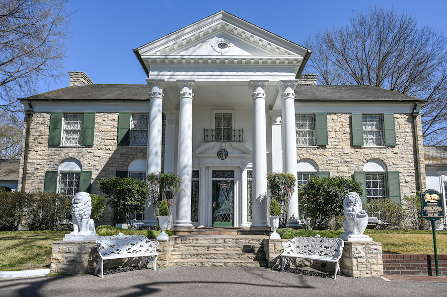 Graceland, Elvis's home, in Memphis.
