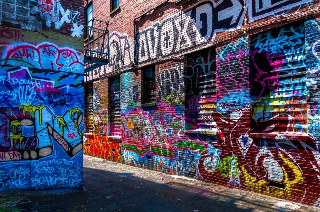 Graffiti Alley in Baltimore, Maryland.