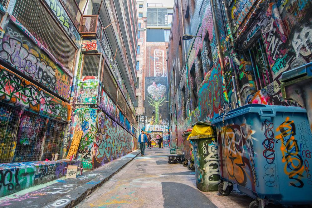 Graffiti in Hosier Lane, Melbourne.