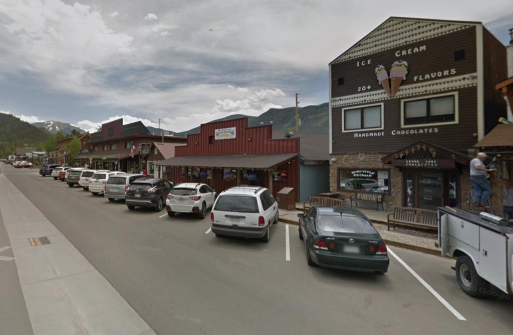 Grand Avenue in downtown Grand Lake, Colorado.