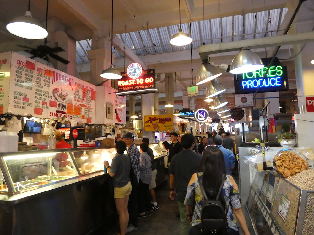 Grand Central Market in Los Angeles.