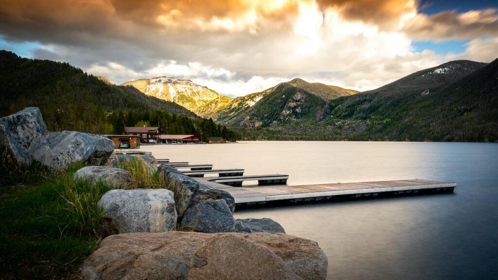 Grand Lake off Colorado's Trail Ridge Road.