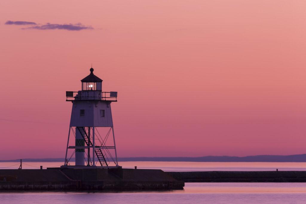 Grand Marais Lighthouse in Minnesota.