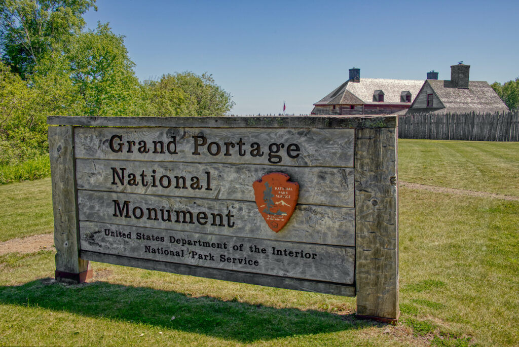 Grand Portage National Monument in Minnesota.