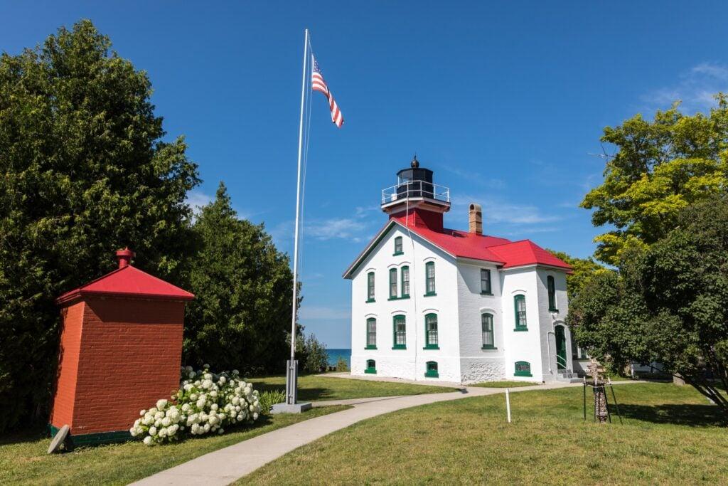 Grand Traverse Lighthouse in Leelanau State Park.
